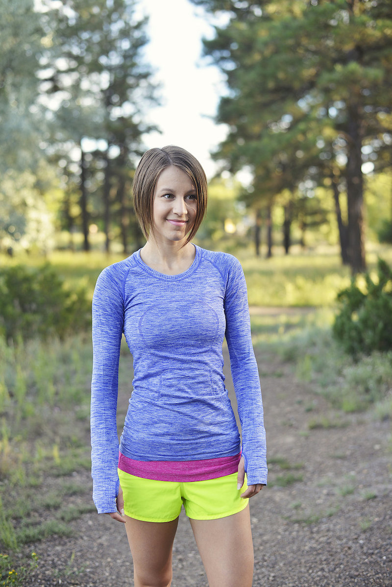 Workout Wardrobe Staples Pigment Long Sleeve Swiftly + Ray Speed Shorts - Agent Athletica